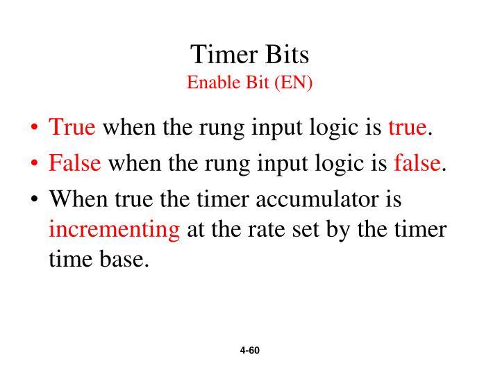 Timer Bits