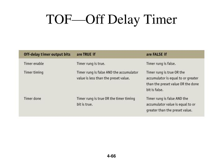 TOF—Off Delay Timer