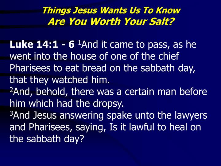 Things Jesus Wants Us To Know