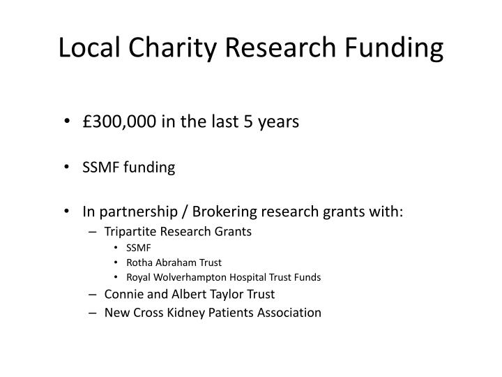 Local Charity Research Funding