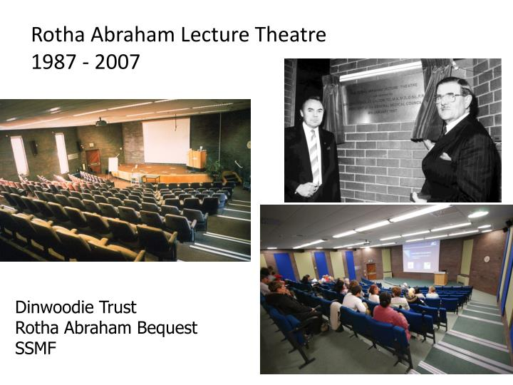 Rotha Abraham Lecture Theatre