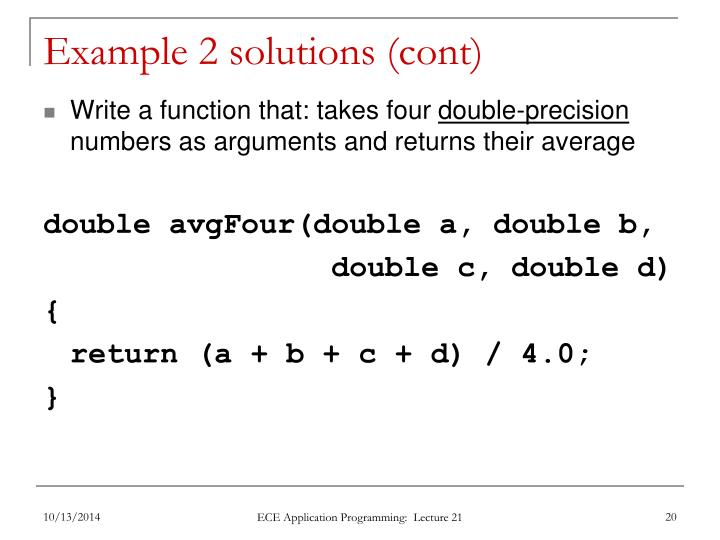 Example 2 solutions (cont)