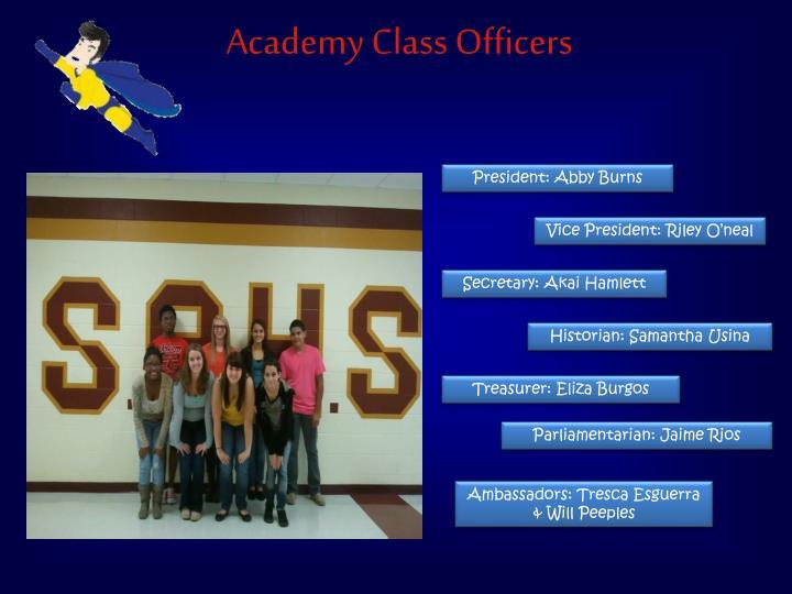 Academy Class Officers