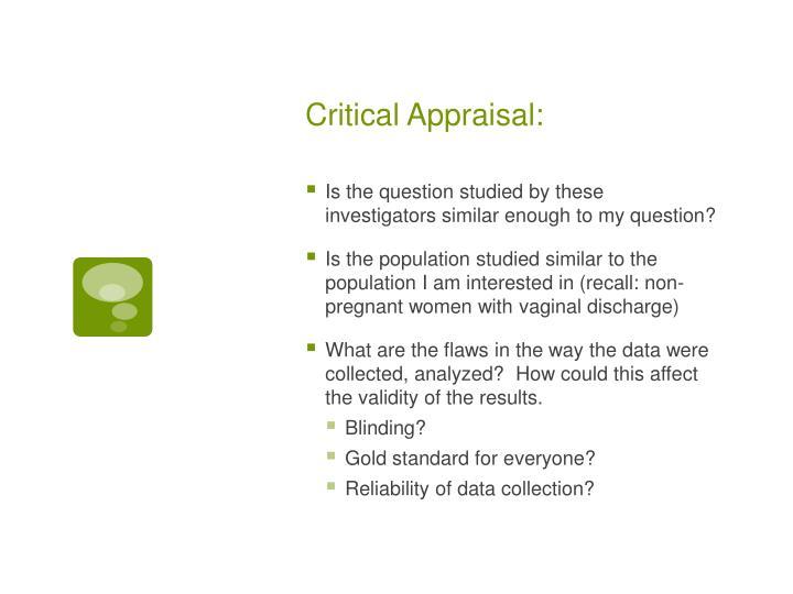 Critical Appraisal: