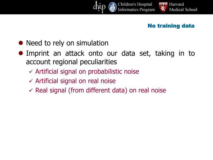 No training data