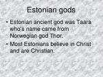 estonian gods