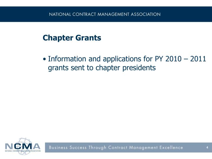 Chapter Grants