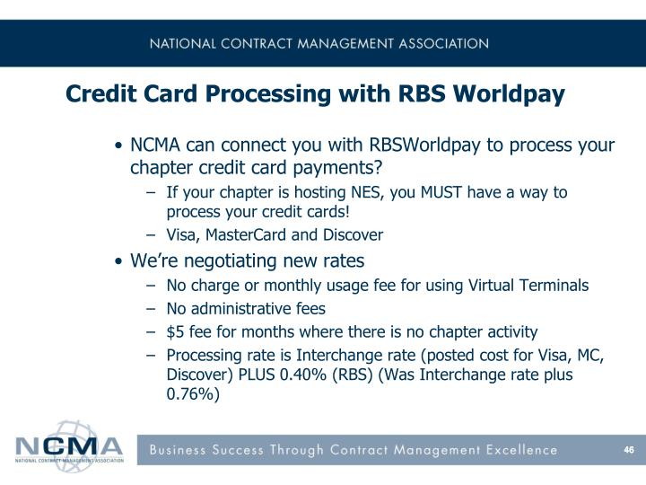 Credit Card Processing with RBS Worldpay