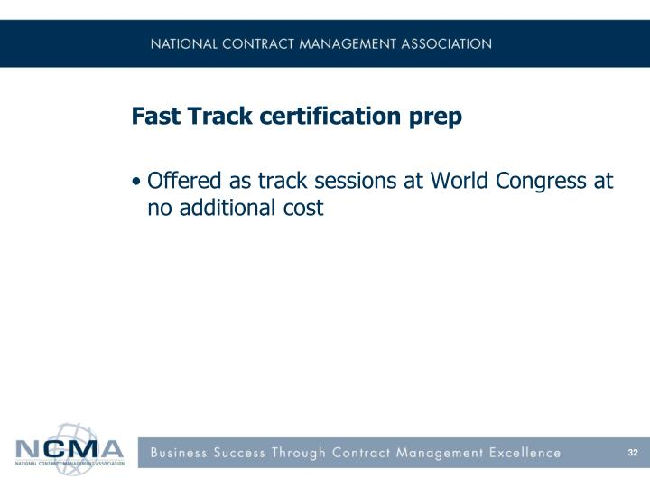 Fast Track certification prep