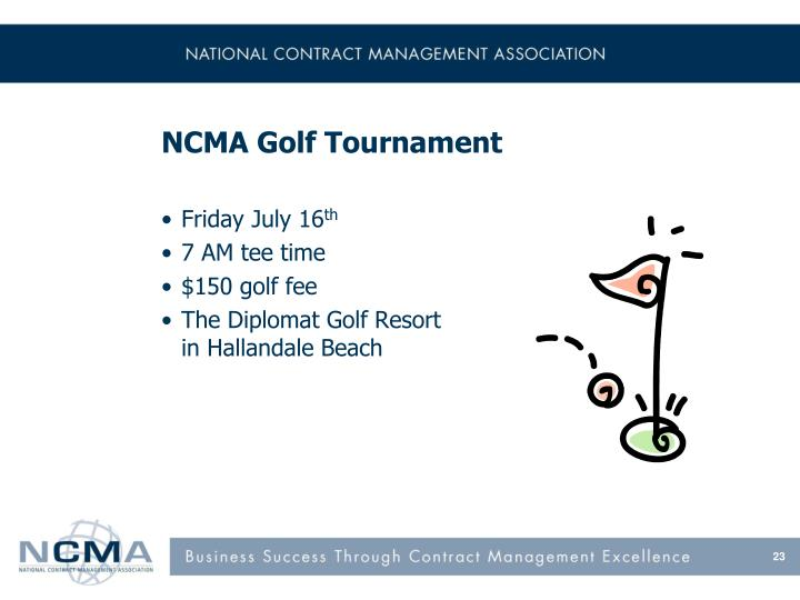 NCMA Golf Tournament
