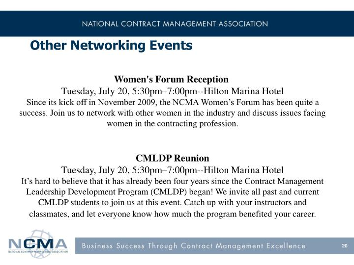 Other Networking Events