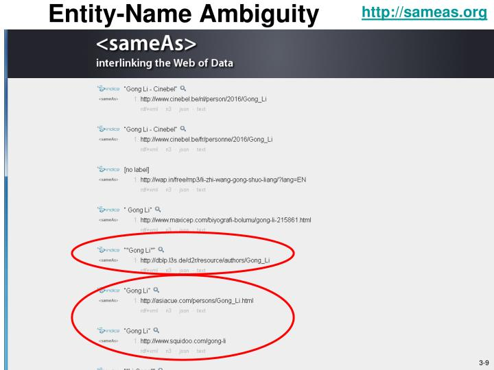 Entity-Name Ambiguity
