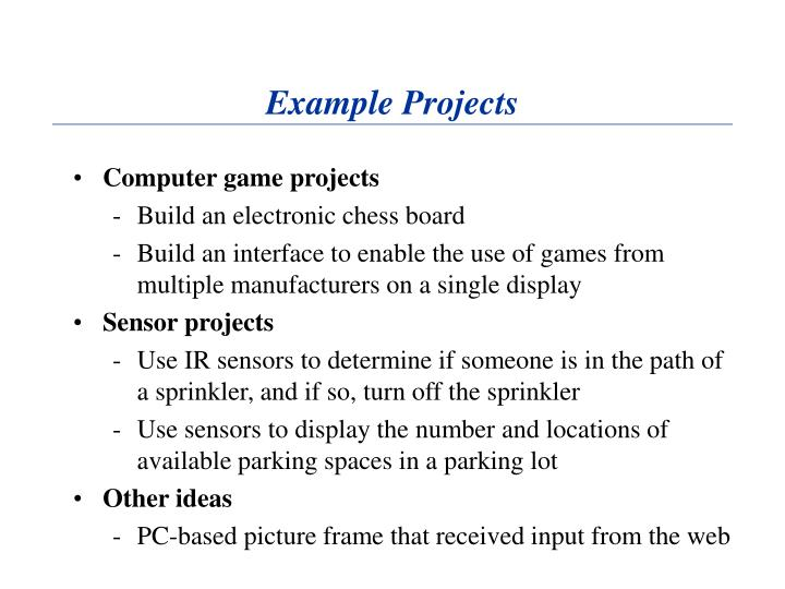 Example Projects