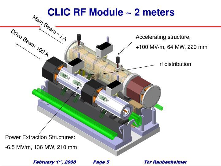 CLIC RF Module ~ 2 meters