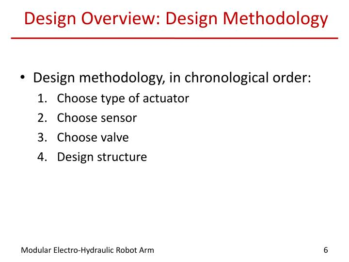 Design Overview: Design Methodology