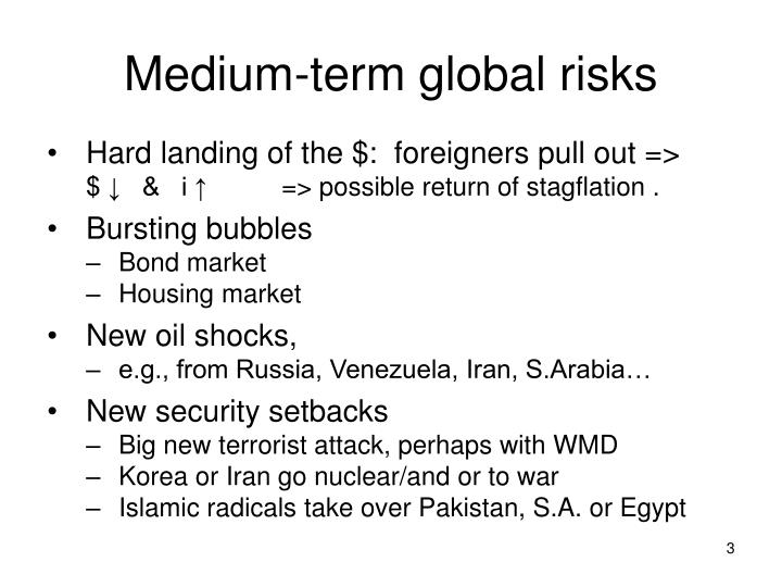 Medium term global risks