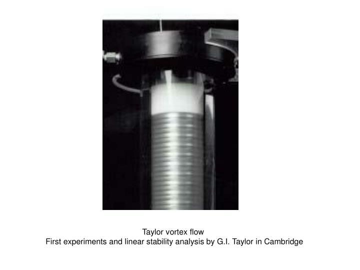 Taylor vortex flow