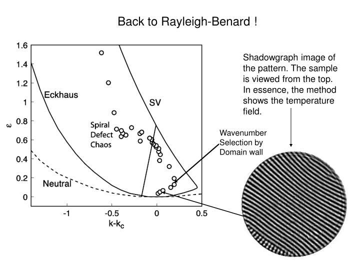 Back to Rayleigh-Benard !
