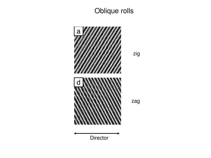 Oblique rolls