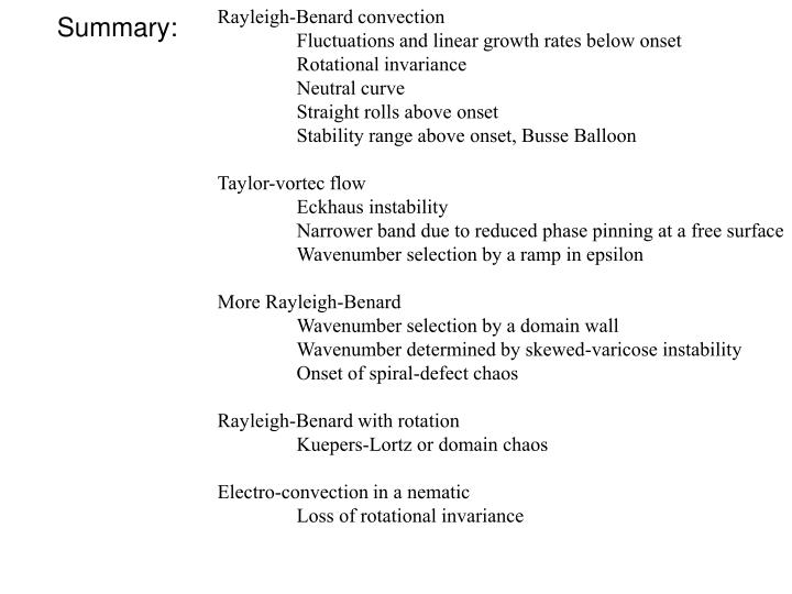 Rayleigh-Benard convection