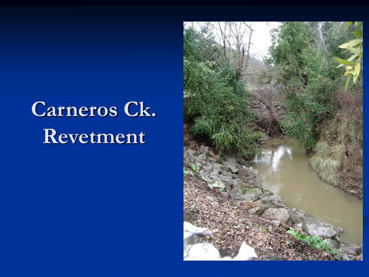 Carneros Ck. Revetment