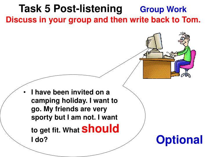 Task 5 Post-listening