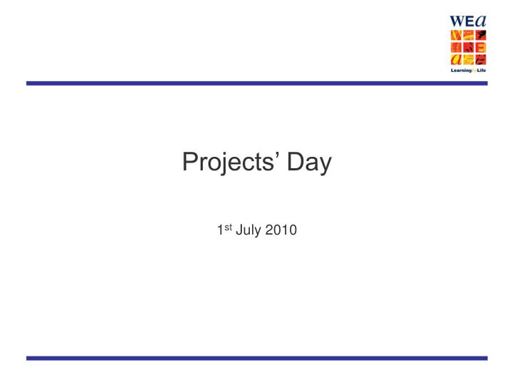 Projects' Day