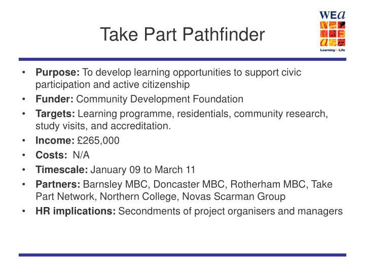 Take Part Pathfinder