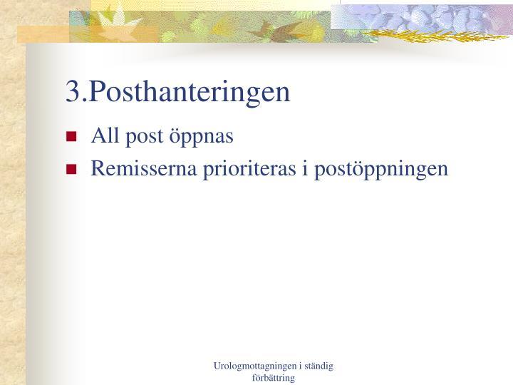 3.Posthanteringen