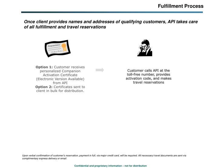 Fulfillment Process
