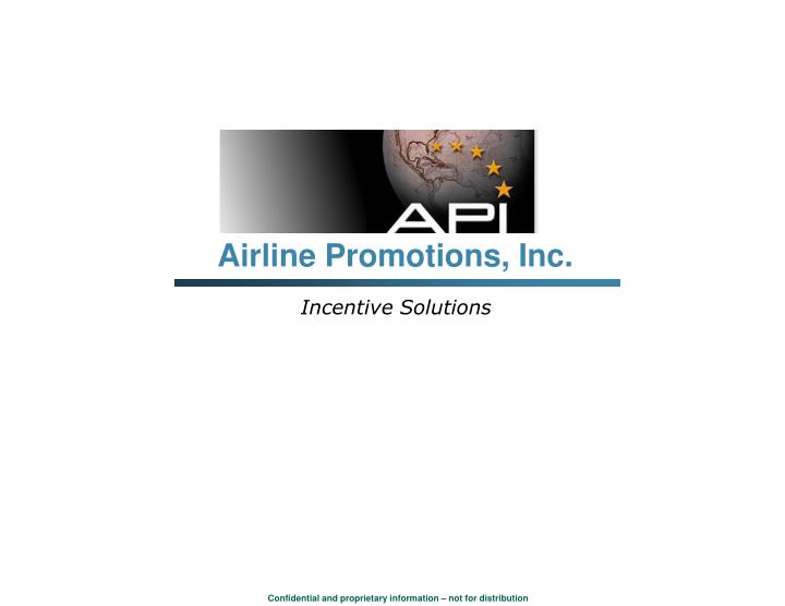 Airline Promotions, Inc.