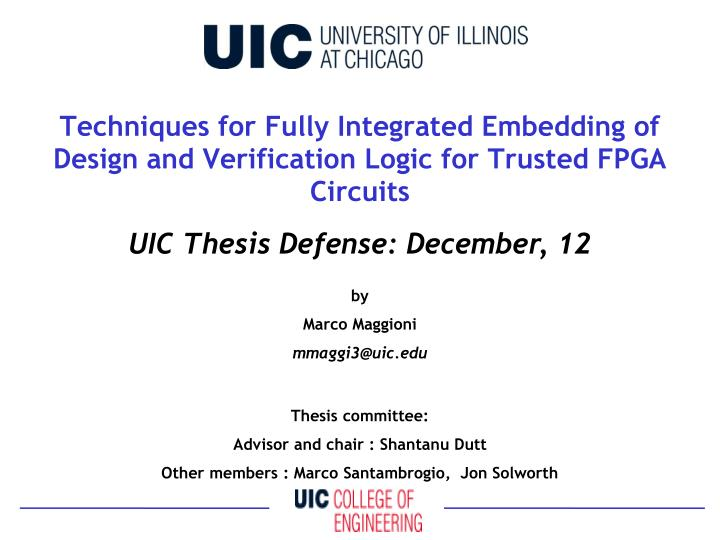 thesis defense committee