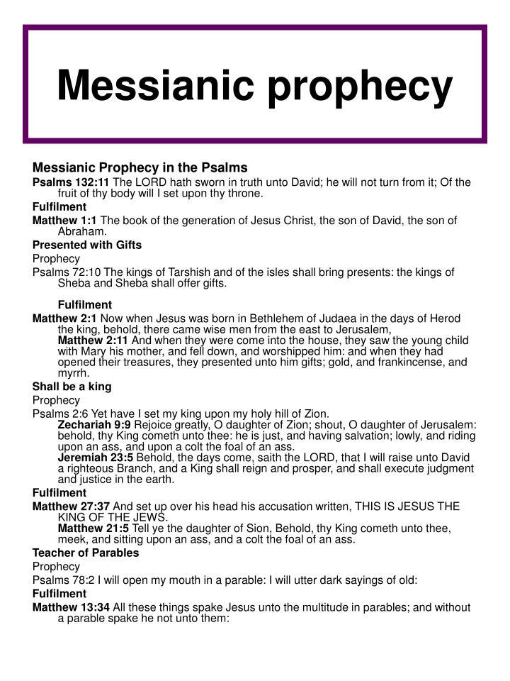 Messianic prophecy