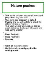 nature psalms