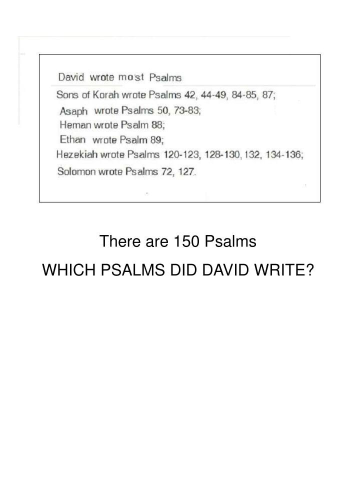There are 150 Psalms