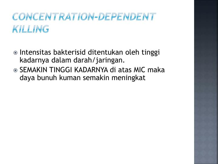 Concentration-Dependent KILLING