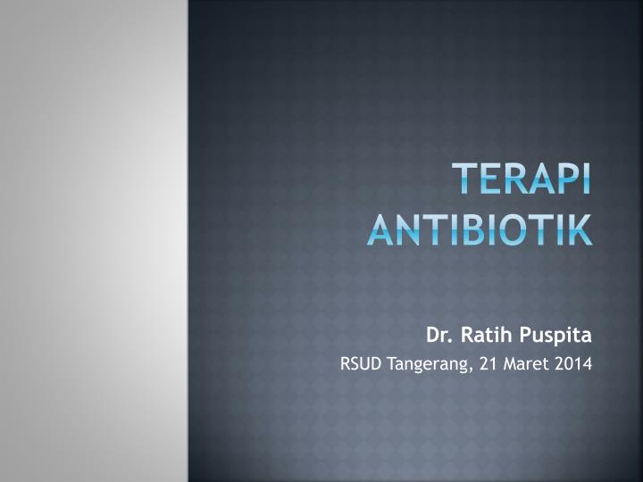 terapi antibiotik