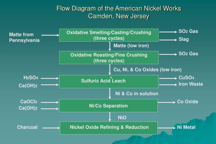 Flow Diagram of the American Nickel Works
