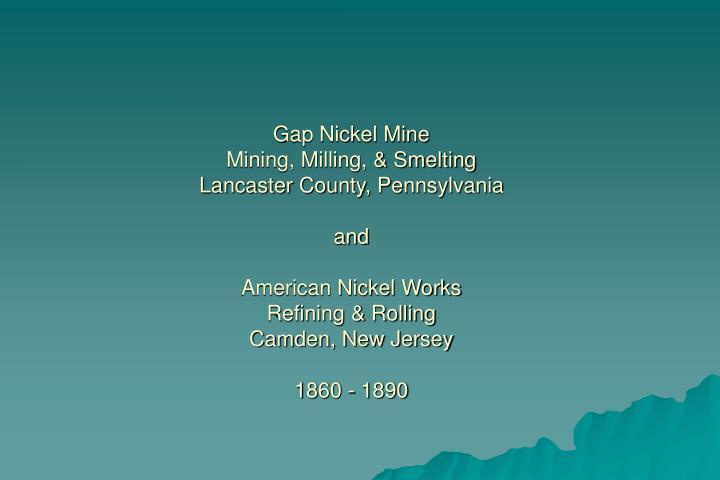Gap Nickel Mine