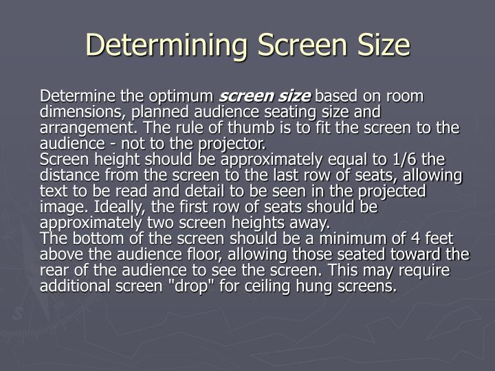 Determining Screen Size