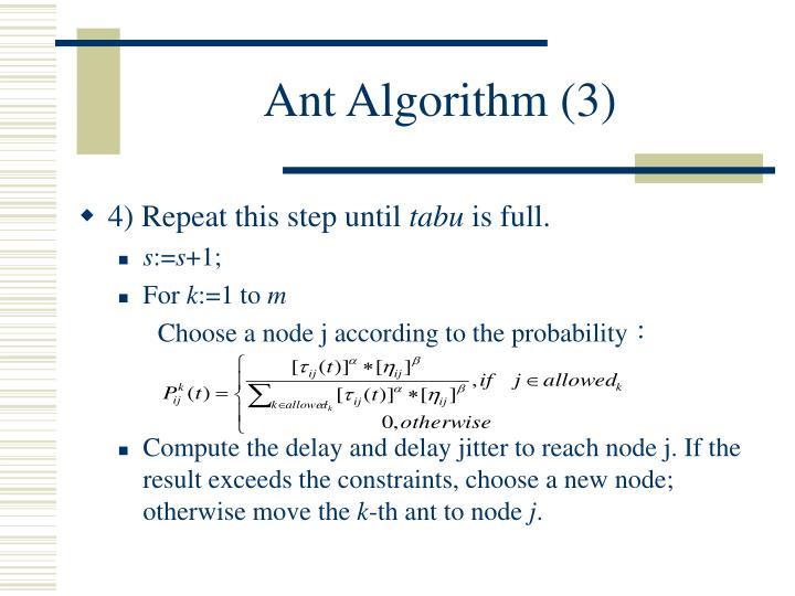 Ant Algorithm (3)