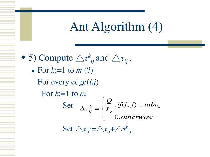 Ant Algorithm (4)
