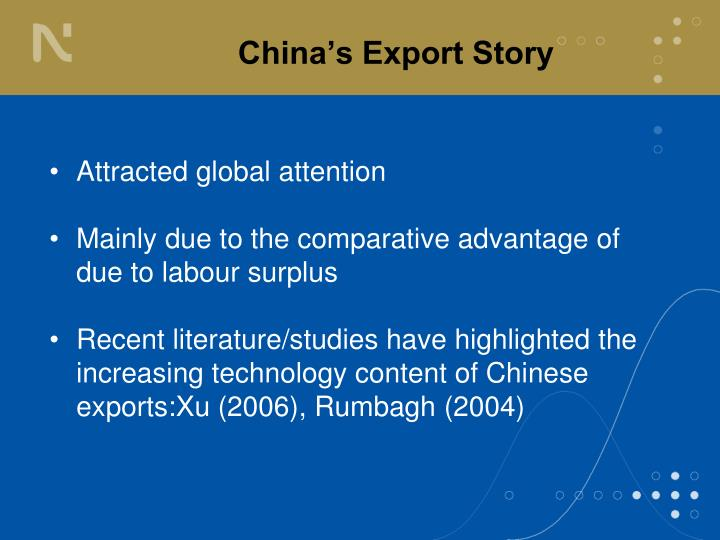 China s export story