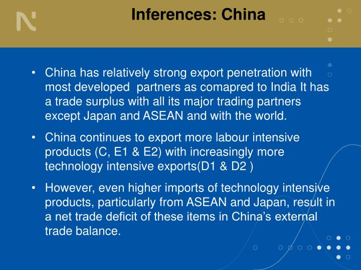 Inferences: China