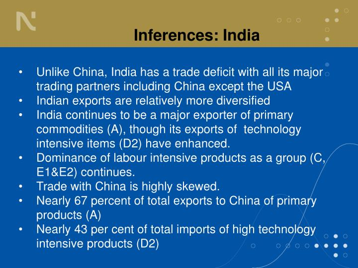 Inferences: India