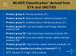 ncaer classification derived from eta and unctad