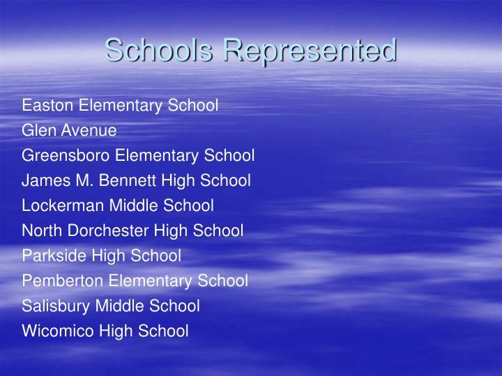 Schools Represented