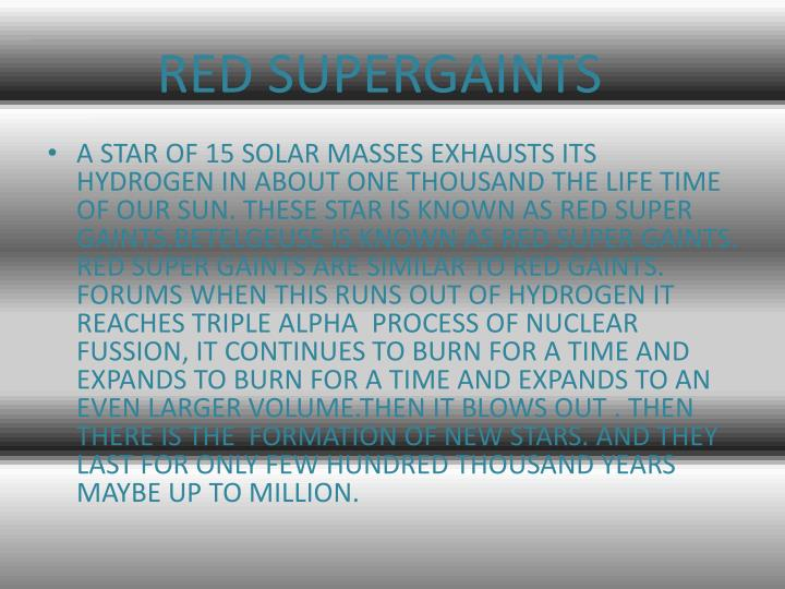 RED SUPERGAINTS