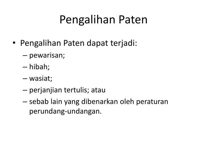 Pengalihan Paten