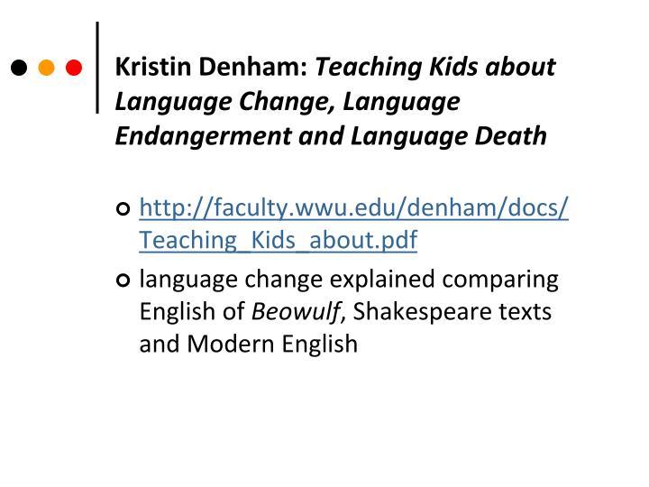 Kristin Denham: